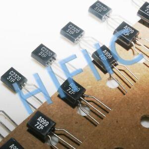 2Pairs 2SA999 2SC2320 (A999 C2320) transistors TO92