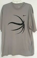 Nike Performance Xxl Gray Short Sleeved Athletic Top