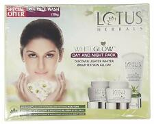 Lotus Herbals White Glow Day And Night Pack with free Face wash,100g