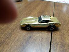 RARE! 1975 Hot Wheels Corvette Stingray Metallic Gold Finish