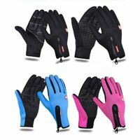 Men Women Outdoor Warm Insulated Gloves Thermal Riding Skiing Waterproof Gloves