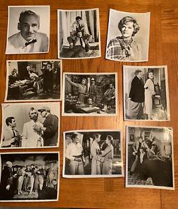 Lot of 10 Black & White Classic Movie Photos - Various Actors/Actresses