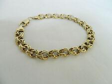 9ct Gold Gents Double LInk Bracelet