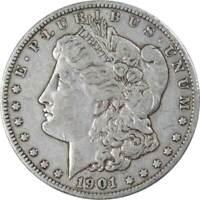 1901 O $1 Morgan Silver Dollar US Coin VF Very Fine