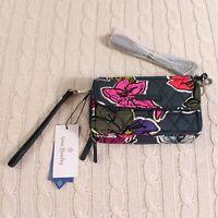 Vera Bradley RFID All In One Crossbody Wristlet Falling Flowers Green MSRP $58