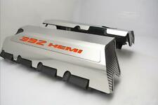 Polished Fuel Rail Covers w/ Hemi Orange for 2015-2020 SRT 6.4L 392 Engines