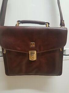 Ambest Brown Vintage Leather Cross Shoulder Bag