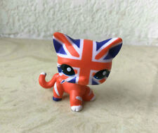 Custom OOAK The Flag LPS Short Hair Cat Littlest Pet Shop Hand Painted Figure