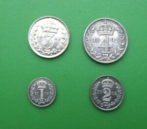 SILVER MAUNDY SET 1902 EDWARD VII EXCELLENT CONDITION