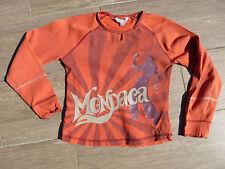 tee shirt orange + Rose Okaidi Manches longues 10 ans
