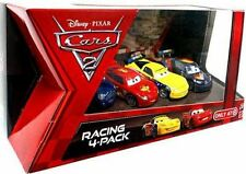 Disney Cars Racing 4-Pack Race Car Set Lightning McQueen Corvette Cooper New