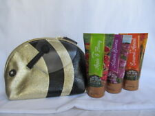 Bath & Body Works Pure Honey Bee Cosmetic Bag  with 3 x 2.5 fl oz  Body Creams