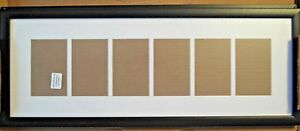 """Craig Frames Contemporary 6 Photo Collage Frame, 6 4x6 Openings, 2"""" Mat Set of 2"""