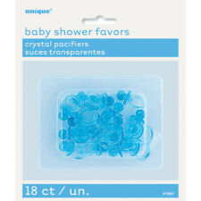 "18 x 1"" Blue Crystal Pacifiers Dummy Baby Shower Favours Gender Reveal Party Boy"