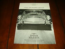1961 ASTON MARTIN Wings And Propeller Optional  ***ORIGINAL VINTAGE AD***
