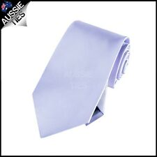 BOYS LAVENDER PURPLE TIE necktie childrens kids wedding lilac light microfibre