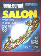 L'AUTO-JOURNAL  N° SPECIAL SALON  septembre 1982 modèle 83