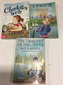 EB White Treasury Set of 3 Charlottes Web Stuart LittleTrumpet of the Swan PB