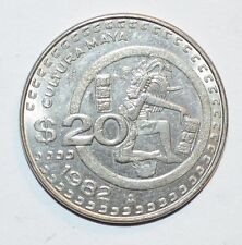 1982 $20 PESOS veinte twenty MEXICO world foreign LARGE coin HIGH GRADE XF/AU
