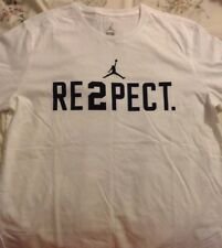Nike Air Jordan 23 Jumpman Re2pect Derek Jeter Limited White Shirt Tee  Large DS
