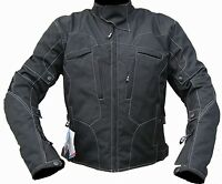 Motorbike Motorcycle White Stitch Textile Jacket Wind/ Waterproof CE Armours