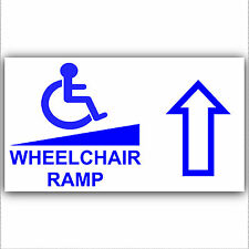Wheelchair Ramp Access Sticker Sign-Disabled,Disability,Mobility- Forward Arrow