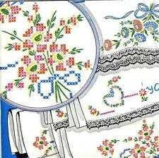 Hand Embroidery Transfer repo 690 Hearts Lazy Daisy Flowers yours mine for Cases