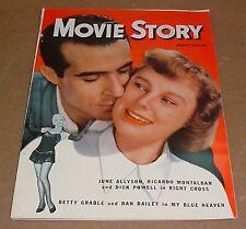 10/1950 Movie Story Magazine    Betty Grable   Ricardo Montalban