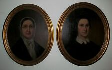 PAIR 19TH CENTURY OIL PORTRAITS OF MARY & CATHERINE HOLDSHIP OF ALLEGHENY CO. PA