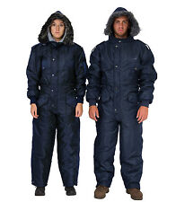 Men Womens IDF Navy blue Snowsuit Winter clothing Ski Snow suit One piece