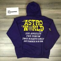 "Travis Scott Astroworld Hoodie ""The Forum Exclusive Laker Hoodie"" in Purple LRG"