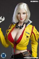 SUPER DUCK 1/6 Female Head Sculpture SDH018A White Short Hair Model F 12'' Body