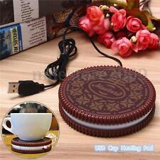 USB Warm Keep Milk Tea Coffee Mug Hot Drinks Beverage Cup Warmer Heating Pad 5V