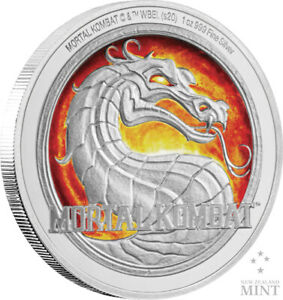 Mortal Kombat - Silver Coin (1oz Silver) Brand New {Free Delivery}
