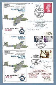 1972 RAF SIGNED FLOWN COVERS - ROYAL AIR FORCE MUSEUM - MRAF SIR DERMOT BOYLE.