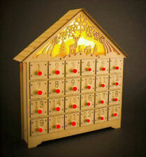 Navidad Escena Decoración Hogar Hecho a Mano Madera Calendario Adviento Casa