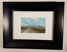 Original Mini Painting Bears Ears National Monument Utah Watercolor 4x2.5 Framed
