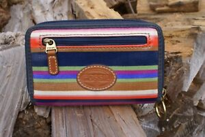 Fossil Wallet, colourful