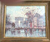 Vintage Antoine Blanchard Museum Print Edition Paris Promenade Mid Century Art