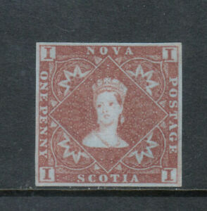 Nova Scotia #1 Extra Fine Unused (No Gum) Gem **With Certificate**