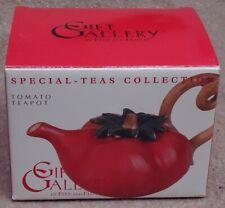 Fitz & Floyd Gift Gallery Special-Teas Collection ~ Tomato Mini Teapot ~ Mib