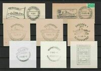 German Shipspost Stamps Cancels on Piece Ref 23885