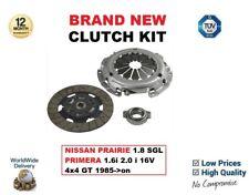 Per Nissan Prairie 1.8 SGL PRIMERA 1.6i 2.0 i 16 V 4x4 GT 1985 - > su 3PC CLUTCH KIT