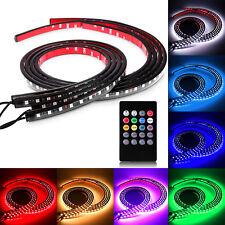 4pcs LED Undercar Underbody Kit RGB Neon Strip Under Car Body Glow Light Tube