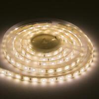 12V IP67 LED Flex Tape Strip Light Warm White 3000K 5 Metres Length