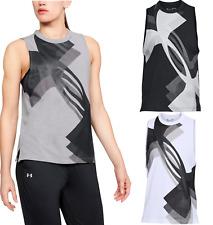 Under Armour UA Women's Overlay Logo Muscle Sleeveless Vest Tank Top - New