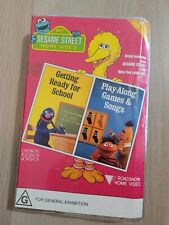 Sesame Street Getting Ready for School / Play-Along Games & Fun VHS Video 1987
