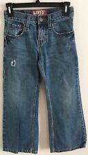 Levi's RedTab Jeans 527 Bootcut Boy's SZ 8 Regular 24X22  Blue E154