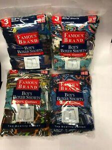 FRUIT OF THE LOOM 12 PK BOYS BOXER SHORT IN FAMOUS BRAND BAG