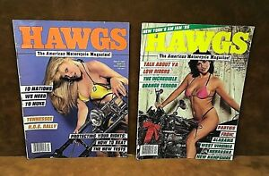 (2) Vintage HAWGS Motorcycle Magazines ~ Dec 1986 & March 1987 ~ FREE SHIPPING